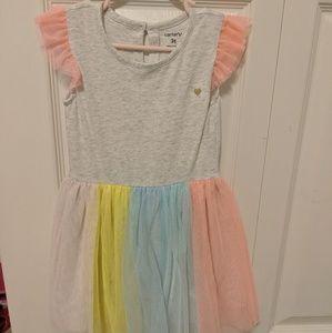 Carter's Girls Dress With Tutu 3t Nwot